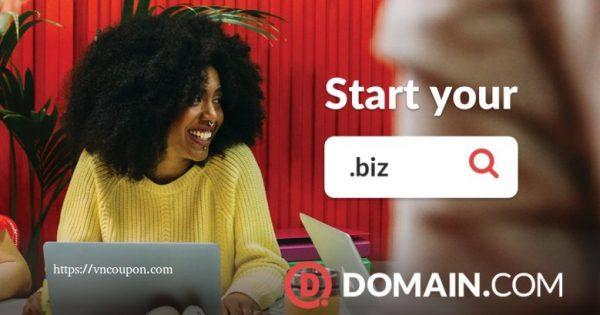 域名.com 优惠券 on 六月2021 – 仅 $7.49每年 .COM & $9.74 .NET & $4.99 .BIZ 域名 Registration