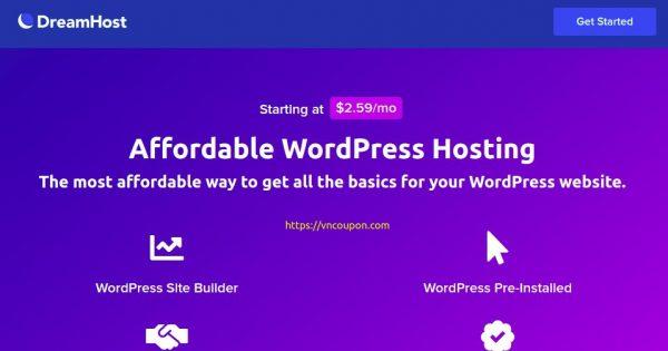DreamHost – Save 最高优惠79% WordPress Hosting