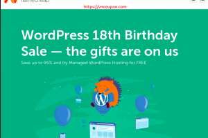 [WordPress 18th Birthday Sale] Namecheap – Save 最高95%、try Managed WordPress Hosting 【免费】