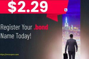 Namesilo 优惠信息、优惠券 on 六月2021 – Get your standard .BOND 域名 name for 仅 $2.29