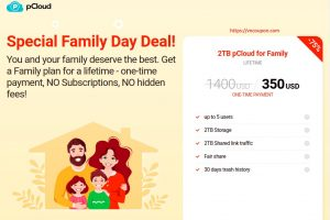 pCloud 特价机 Family Day Deal! 优惠75% Cloud Storage