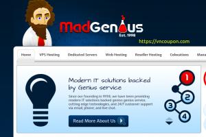 MadGenius – 优惠50% KVM VPS 提供 最低 $59.40每年