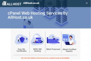 AllHost – Cheap cPanel Hosting 最低 10英镑每年