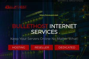 Bullethost – Save 最高优惠20% 虚拟主机, VPS, RDP Services!