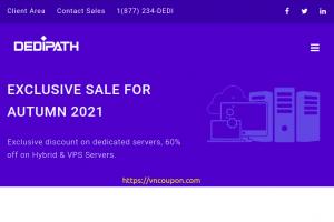 [Fall Sale] DediPath – 优惠60% SSD OpenVZ、KVM VPS – 独服 最低 $39每月 – 7位置