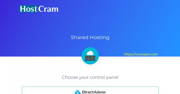 HostCram 虚拟主机 – 50% 一次性折扣 + 特价机 DirectAdmin 虚拟主机 offer 仅 $10每年