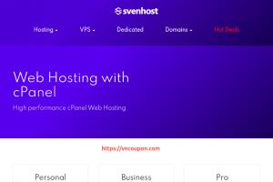 SvenHost – 特价机 虚拟主机 最低 $6每年 + Flat 65%折扣 优惠券