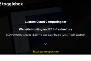 ToggleBox – 免费$50 Credit on Hourly Cloud VPS