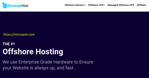 BlueAngelHost – Offshore VPS Promo 最低 $9.99每月 – 优惠10% Managed Offshore VPS