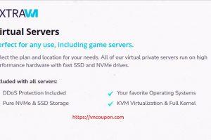 ExtraVM – 特价机 VDS 提供 in Dallas, Texas – 16GB RAM, 2x i9-9900K Cores, 100GB NVMe 仅 $16每月