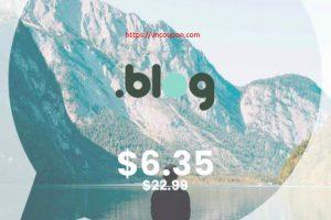 [Flash Sale] Get your .BLOG 域名 name for $6.35 (regular price $22.99) at NameSilo!