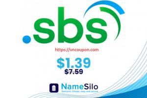 [Flash Sale] Get your .SBS 域名 for 仅 $1.39 (regular price $7.59) at NameSilo