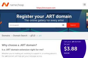 Get your .ART 域名 now just $3.88每年 at Namecheap