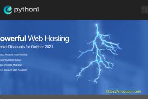 Python1 – 特价机 cPanel 虚拟主机 最低 $9.99每年 (优惠80%)