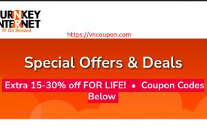 TurnKey Internet 独服 Promos – 节省 终身优惠30% 优惠券